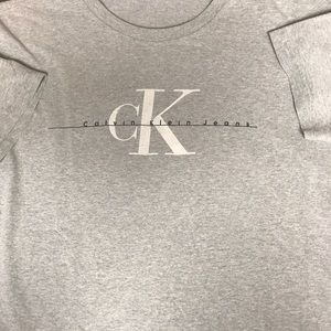 Throwback Calvin Klein Big Logo tee Sz M